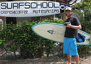 Charging at Dumpers, Luis Bertone, owner and surf instructor at La Escuela del Mar Surf School has been surfing for over 25 years and teaching for over 10