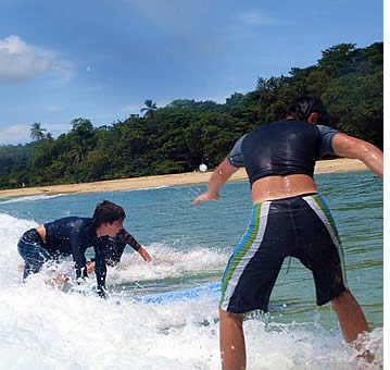 Surf Lessons in Bocas del Toro at Wizard Beach